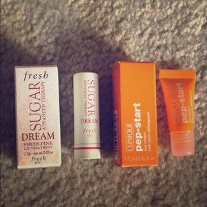 Bundle 💕 Fresh Sugar Lip & Clinique pep-start eye